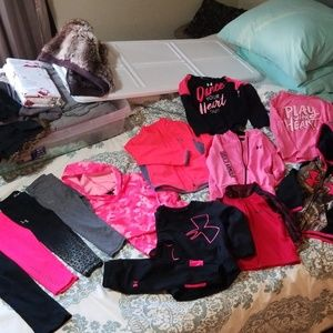 HUGE great condition girls under armour lot.